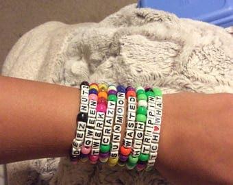 Set of 5 rave bracelets