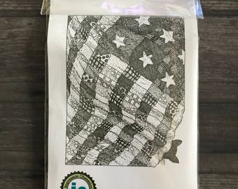 Impression Obsession American Flag Rustic Rubber Cling