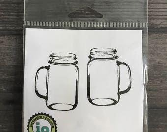Impression Obsession Rustic Mason Jar Cup Cling Stamps