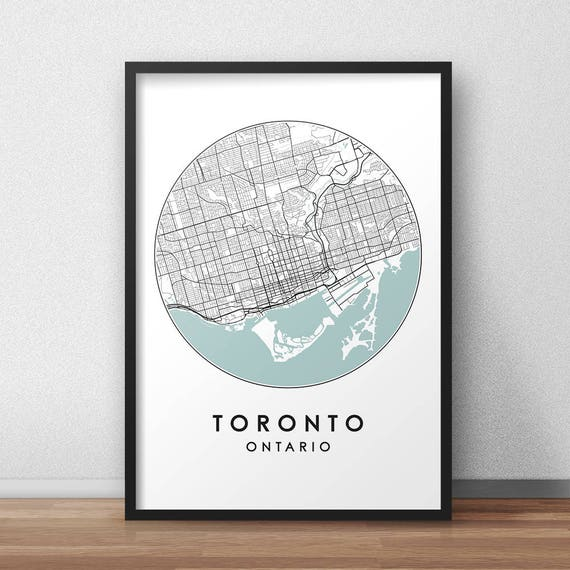 Toronto city print street map art toronto map poster like this item gumiabroncs Choice Image