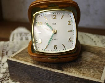Vintage Elgin Travel Alarm Clock made in West Germany