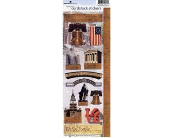 Scrapbook Stickers - Paper House Productions Philadelphia Pennsylvania Cardstock Travel & Vacation Embellishments