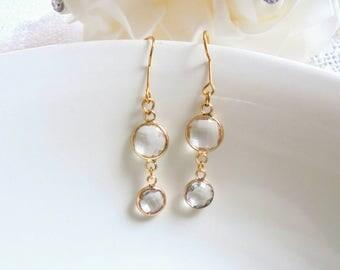 Bridesmaid earrings, wedding earrings, bridal earrings, crystal earrings, earrings , earrings gift,bridesmaid gift.