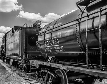 8x10 Photo Art Print: Train Black and White