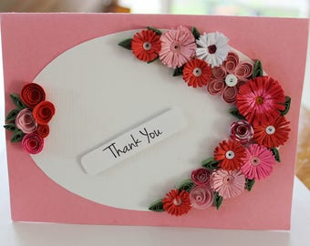 paper quilling thank you cards