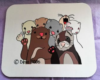 Waving Ferrets Mousepad