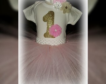 Birthday Tutu in pink and gold