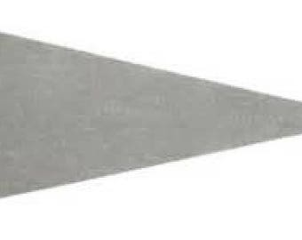 12 Light Gray Felt Blank Pennant Flag