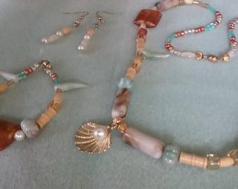 Under the Sea Beaded jewelry set