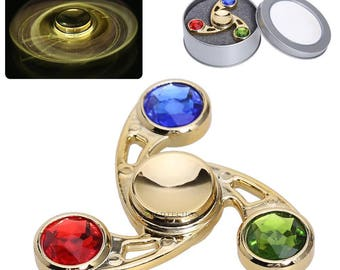 Cool Tri Color Fast Diamond Fidget Spinner**SALE**Free Shipping**