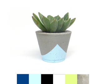 Small, wide concrete planter or air plant holder