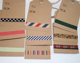 Gift Tags, All Occasion Gift Tags, Set of 9 Gift Tags, Luggage Gift Tags