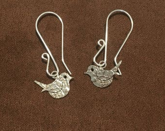 Little Bird Silver Threepence Earrings