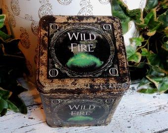 Game of Thrones. Wild Fire Keepsake Tin. Game Of Thrones Gift. Game of Thrones Prop. Storage Tin. Treasure Tin. Personal Tin.