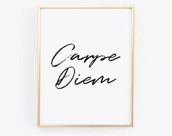 Carpe Diem Print, Carpe Diem Poster, Carpe Diem Printable, Carp Diem Digital Print, Seize the Day Print, Carpe Diem Art, Carpe Diem Download