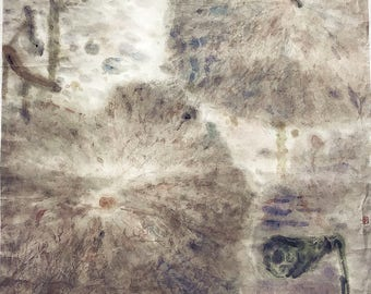 Traditional Chinese Painting of Summer Pond (Impression)