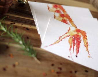 Social Kitchen Stationery: Carrot Postcards/Greeting Cards