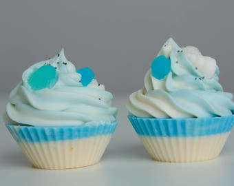 Beautiful Sea World soap cupcakes with mussels