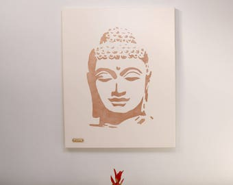 Copper metallic Buddha original canvas painting wall art