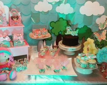 Birthday. Candy Boxes. Dolls. Candy table. Dessert Table. 65 Pieces per package. Customized candy boxes.