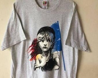 Vintage 80's Les Miserables Movie Promo T shirt