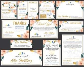 Chloe and Isabel Marketing Kit, Custom Chloe and Isabel Cards, Fast Free Personalization, Chloe and Isabel Bundle, Printable Files CL01