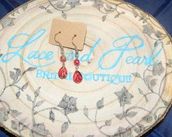 Rich Red Earrings