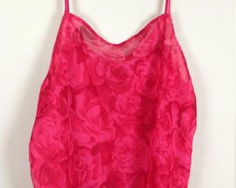 Pink rose tank