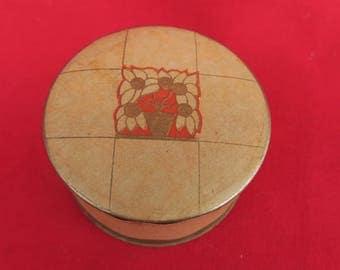 boite à poudre ancienne et de collection, Roger & Gallet, ocre, fugue, Paris-France, conditionnement provisoire, old powder box,