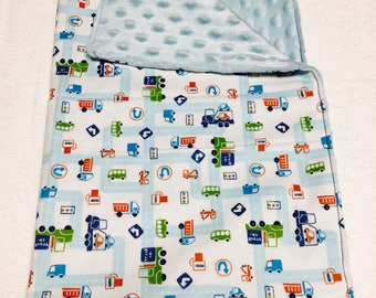 Snuggle Blanket - Lovey - Transportation