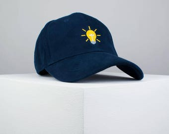 Light bulb cap / baseball cap / tumblr hat / tumblr cap / good vibes / always right / monogrammed cap / baseball hat / bff gift / navy hat