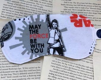 Rice Eye Mask - Star Wars: The Last Jedi/Reylo Flannel Pattern