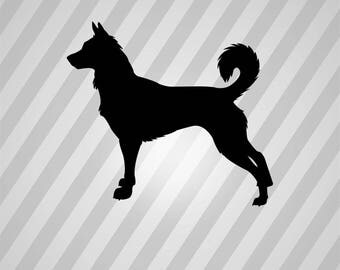 canaan dog Silhouette - Svg Dxf Eps Silhouette Rld RDWorks Pdf Png AI Files Digital Cut Vector File Svg File Cricut Laser Cut