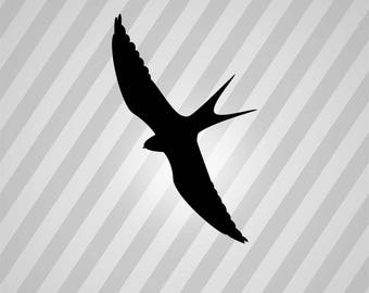 Bird Flying Swallow Silhouette Bird - Svg Dxf Eps Silhouette Rld RDWorks Pdf Png AI Files Digital Cut Vector File Svg File Cricut Laser Cut