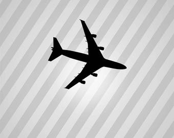 Airplane Silhouette Boeing - Svg Dxf Eps Silhouette Rld RDWorks Pdf Png AI Files Digital Cut Vector File Svg File Cricut Laser Cut