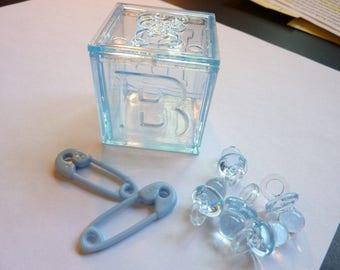 Blue Baby Shower Custom Gem Vase Fillers for Centerpieces
