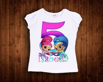 inspired by shimmer and shine birthday shirt