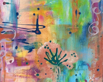 New beginnings - abstract painting on heavyweight paper by Luci Sterre