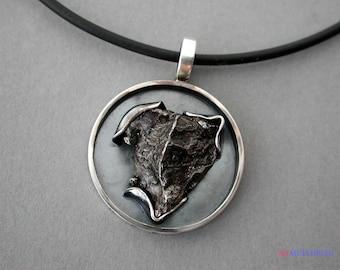 Silver pendant with meteorite Sik.hote-Alin.