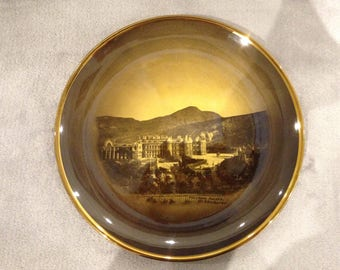 Antique Scottish themed Ridgway plate featuring Holyrood Palace Edinburgh.  Late 1800s