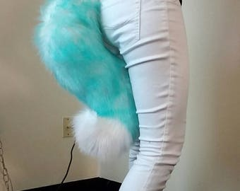 Fox/Wolf Fursuit Tail - 'Icy Blue'