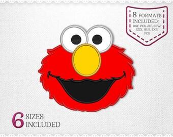 Elmo Sesame Street Applique Machine Design - 6 Sizes - INSTANT DOWNLOAD - Applique, Embroidery, Designs