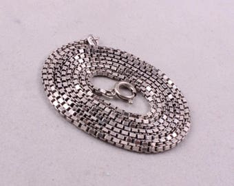 Vintage Sterling SILVER 925 ''BOX'' CHAIN 10 gr. 28.7 in.