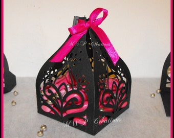 """Boxes for sweets """"Eastern Tulip"""" pattern 1 (set of 10, to assemble)"""