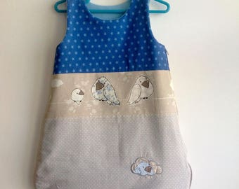 Sleeping bag 0-6 month size blue birds