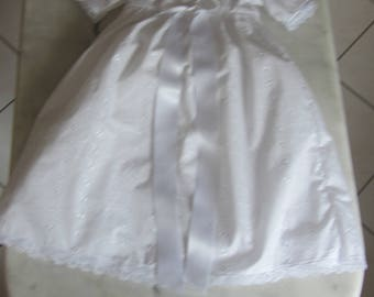 Hand made eyelet christening gown size 3 months