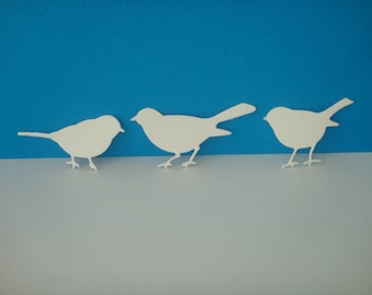 Set of 3 birds to create white drawing paper