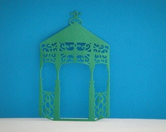 Bandstand in green paper cut