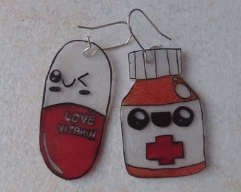 medication earrings