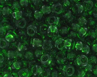 Bottle green beads 2 mm 11/0 - 1 packet of 10 grams-